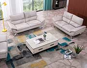 Light Gray Genuine Leather Sofa set AE 152