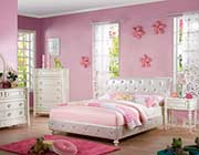 Pearl White Kids Bed AC Darien