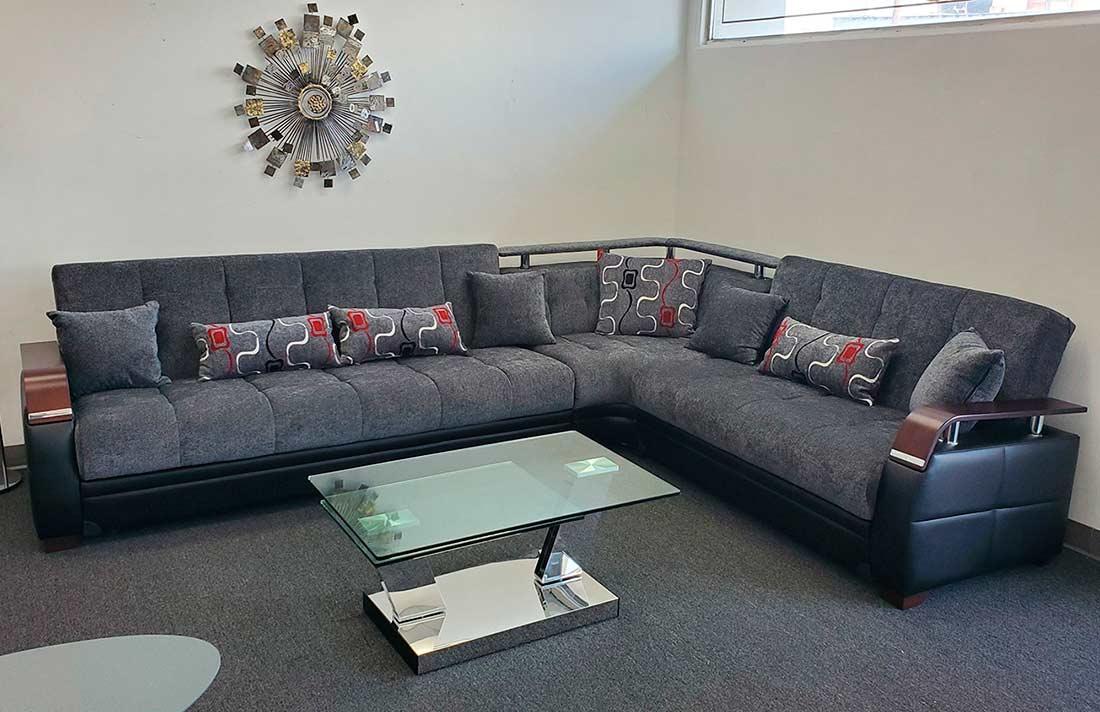 Dark Grey Modular Sectional sofa bed Moon | Sofa Beds