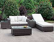 Whtie Wicker Patio Sofa FA 135