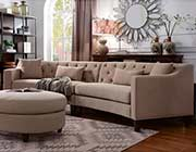 Taupe Fabric Sectional Sofa FA 370