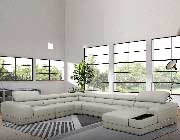 Modern Leather Sectional Sofa EF 76
