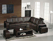 Sectional leather sofa Espresso 9
