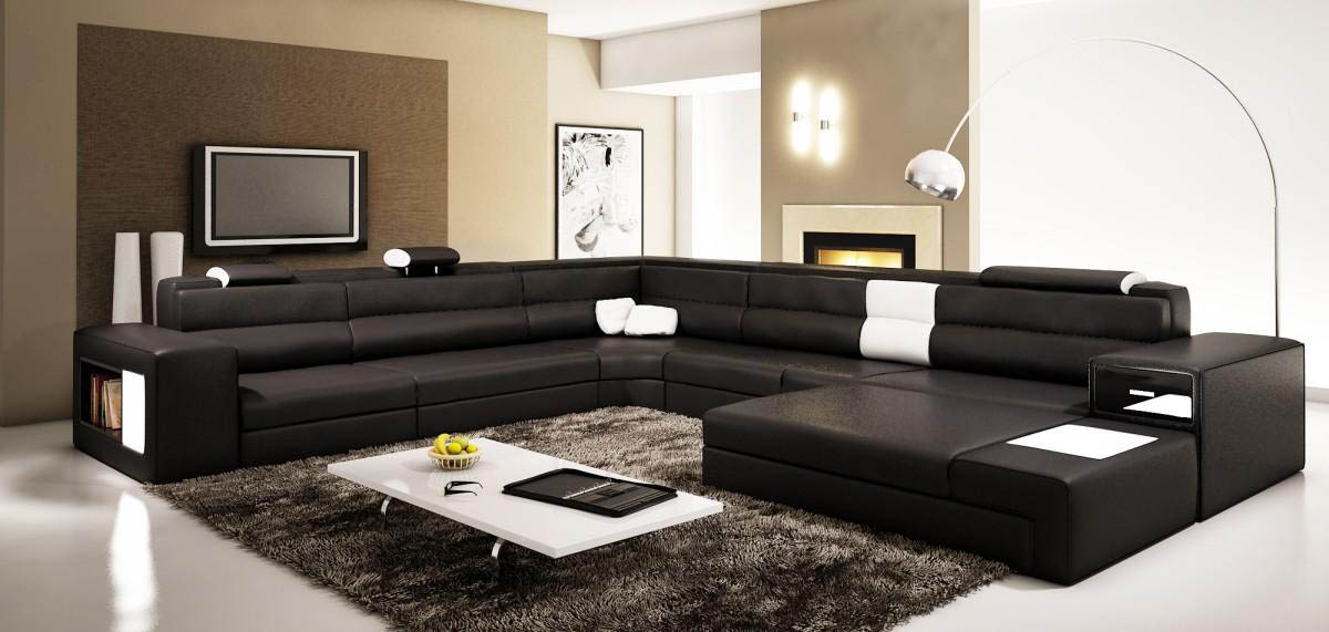 Black Sectional Couches leather sectionals - creditrestore