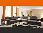 Polaris Leather Sectional Sofa