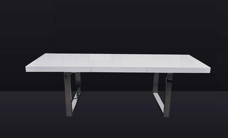 Evg 835 Extendable White Dining Table