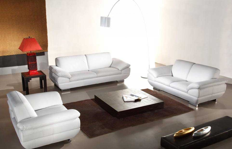 Italian Leather Sofa Set In Espresso Finish