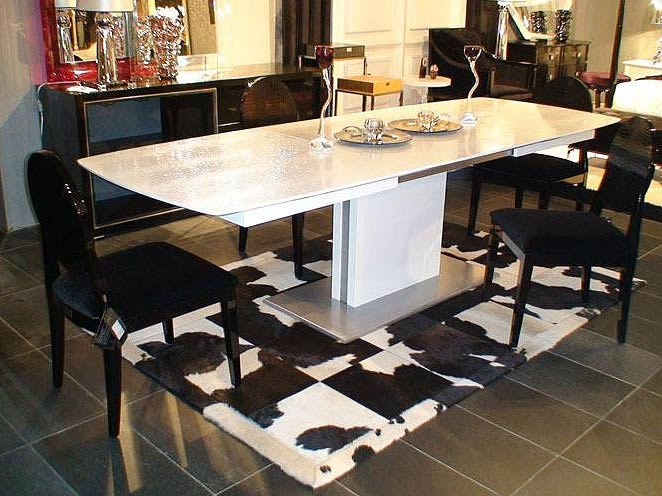Contemporary Dining Table Set VG81 White