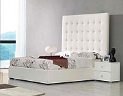 Lora Tall  White Bed