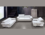 Linda Modern White Leather Sofa Set VG-110