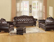 Dark Brown Leather Sofa AC-150