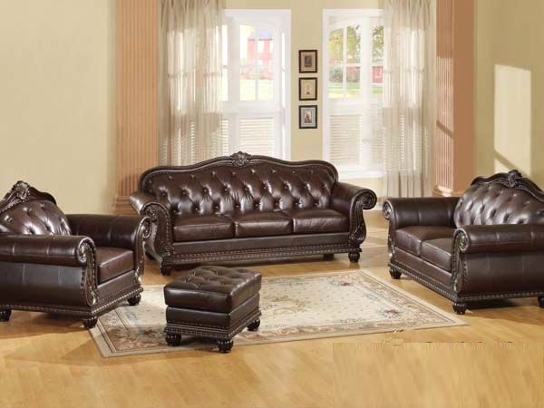 Captivating Dark Brown Leather Sofa AC 150
