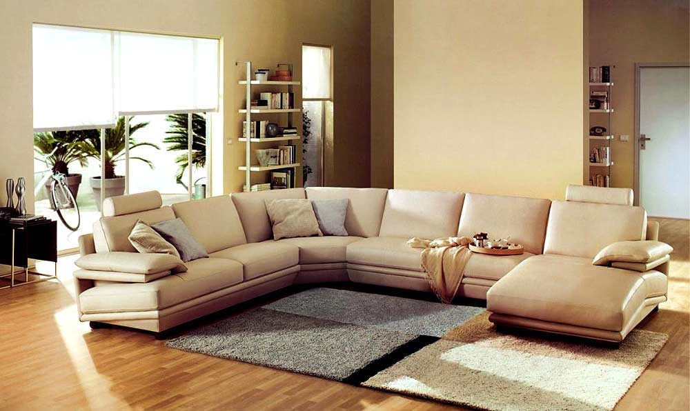 VG 612 Modern Leather Sectional Sofa