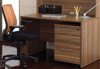 Unique Furniture 100 Collection Walnut Desk 14723