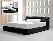 MB 074 Black Leatherette Bed with storage