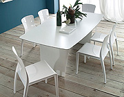Stone-T 200 White Dining Table by Domitalia