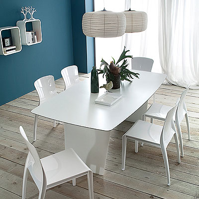 stone t 200 white dining table by domitalia domitalia