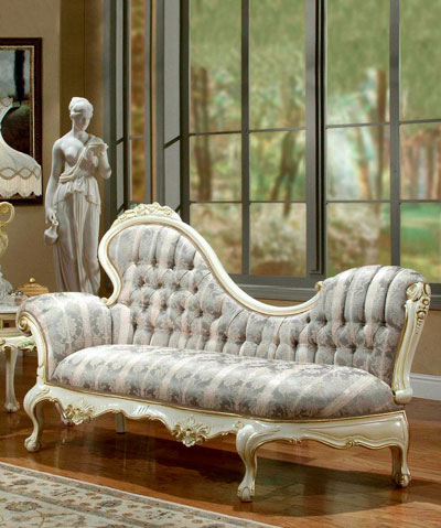 classic chaise lounge accent seating