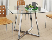 Z-195 Clear Glass Dining Table