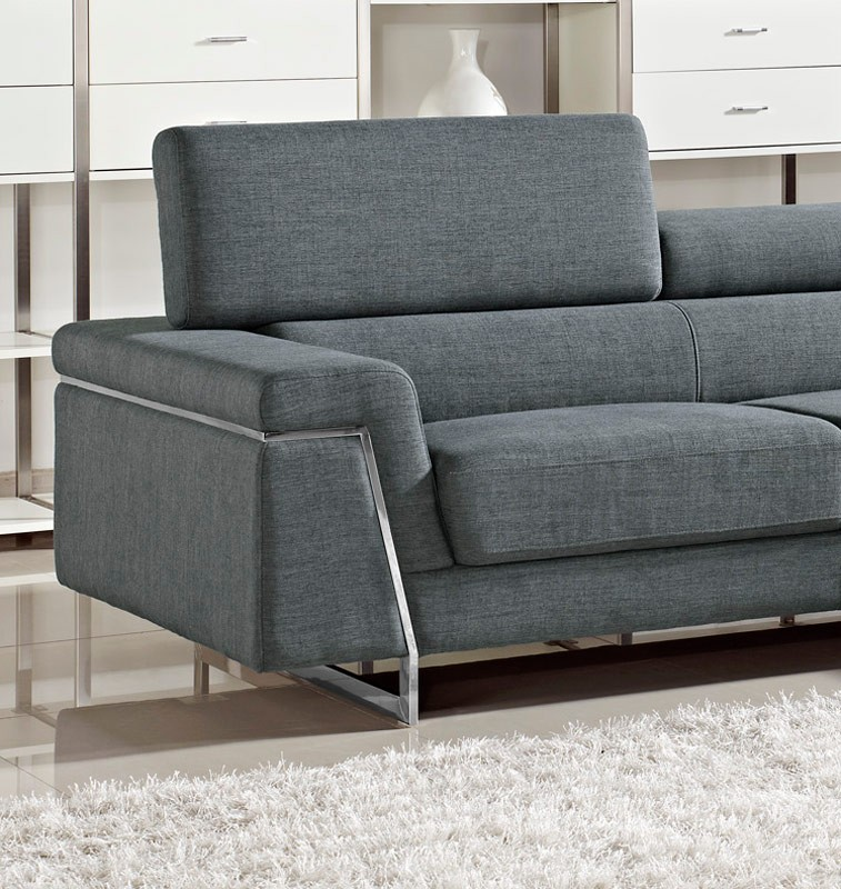 Justine Modern Fabric Sectional Sofa Set