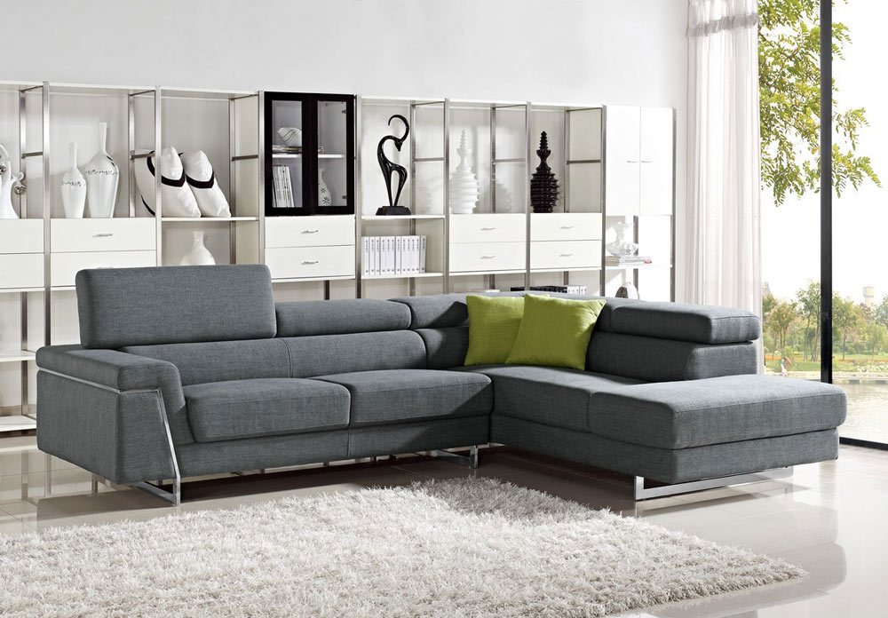 Justine - Modern Fabric Sectional Sofa Set : modern sofa with chaise - Sectionals, Sofas & Couches