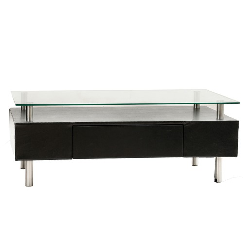 Santo Coffee Table W/drawer And Glass Top CR