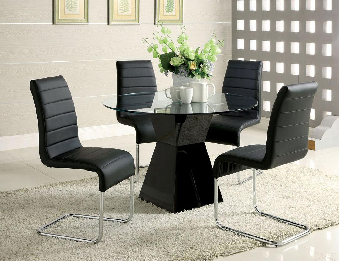 modern black table fa71 modern dining. Black Bedroom Furniture Sets. Home Design Ideas