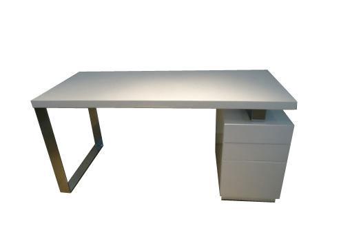 white lacquer desk cr982
