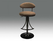 Chocolate upholstered bar stool CR102