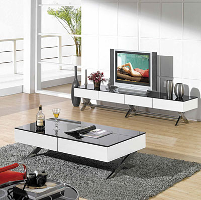 Modern glossy white coffee table CR1074