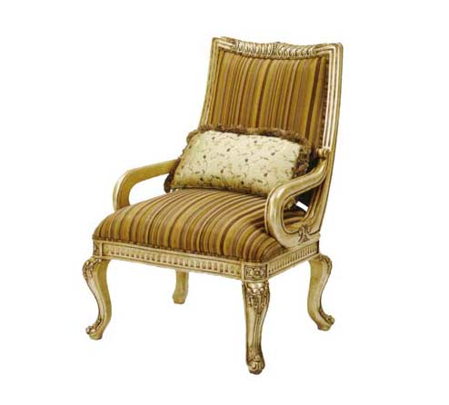 BT 055 Accent Chair in Antiqued Gold