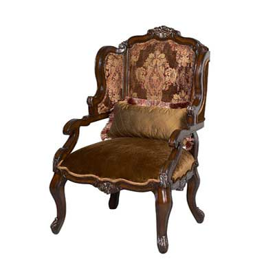 BT 070 Classical Dark Brown Accent Arm ChairAccent Seating