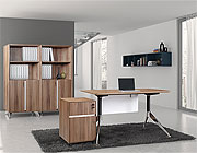 Unique Furniture 300 Collection Walnut Desk 300