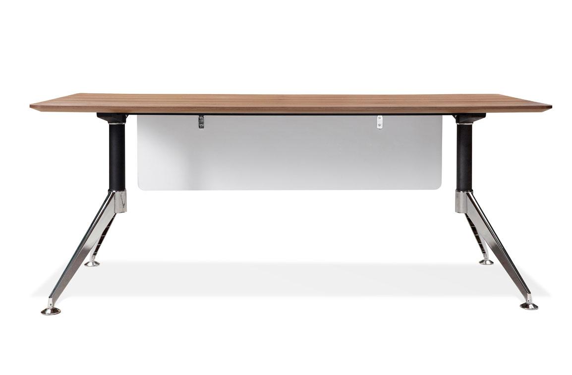 Unique furniture 300 collection walnut desk 300 unique desks for Unique office furniture desks