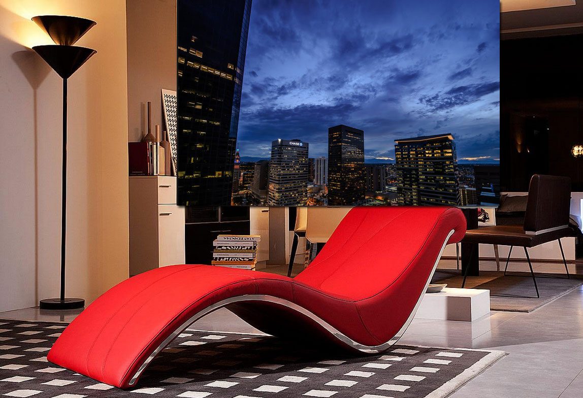 vgwave red leatherette lounge chair. vgwave red leatherette lounge chair  accent seating