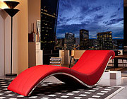 VG-Wave Red Leatherette Lounge Chair