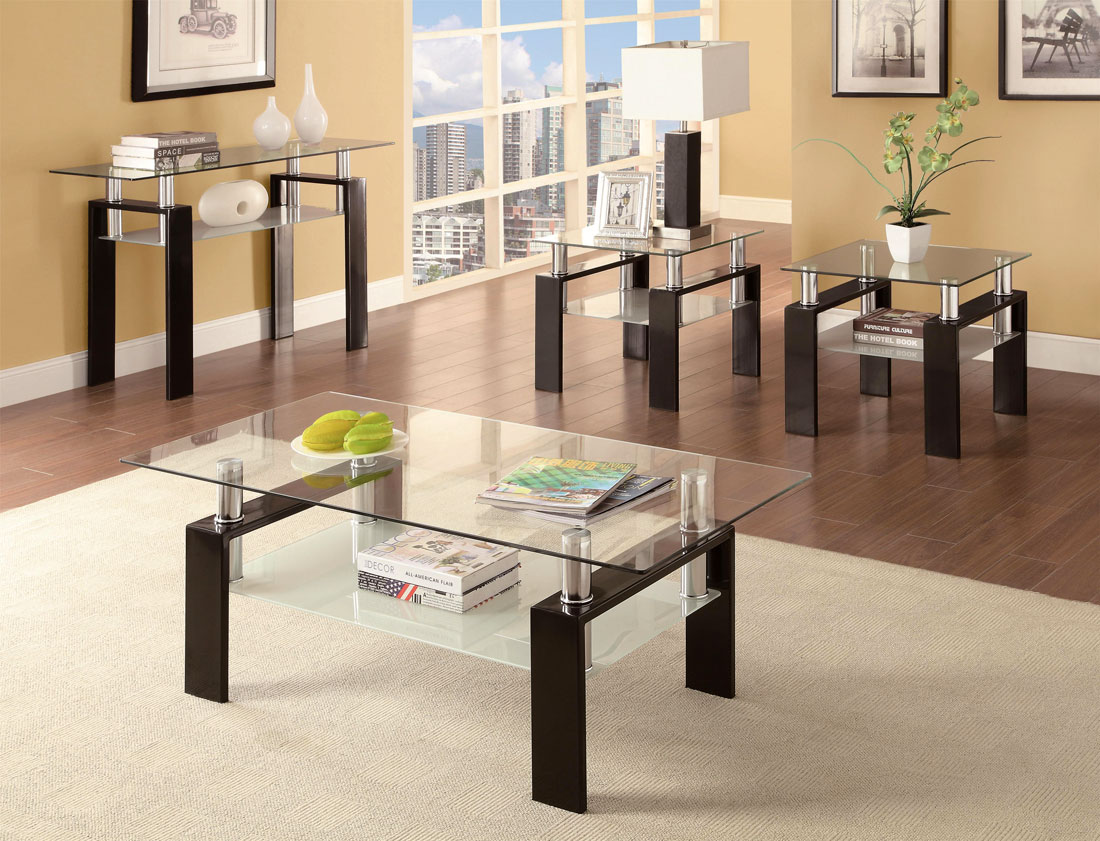 coffee table set co 287 contemporary. Black Bedroom Furniture Sets. Home Design Ideas