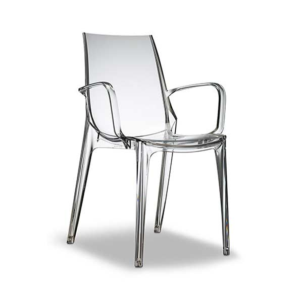 Modern Stackable Chair Clear Estyle 704 Modern Chairs