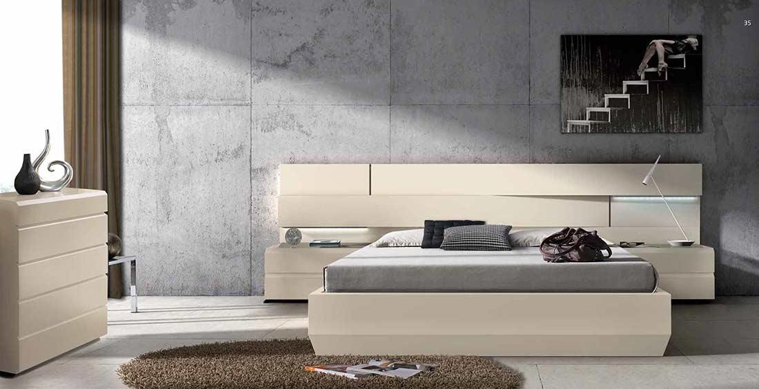 Gracia bed ef spain made 509 modern bedroom furniture for Bedroom furniture spain