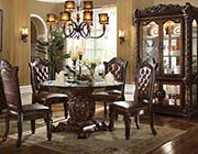 Traditional Round Dining Table Allesia AC 010