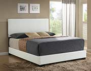 White Leatherette Bed Isabelle AC 390