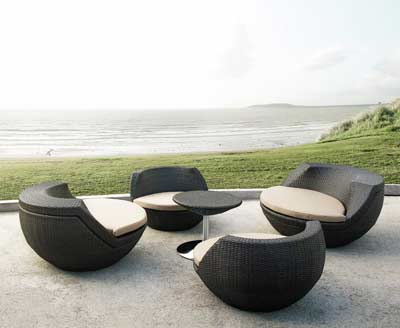 Chic Modern Outdoor Patio set Egg shape VG-654