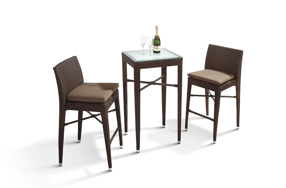 Reva Outdoor Bar Set (Rectangular Table and 4 Chairs) | Outdoor ...