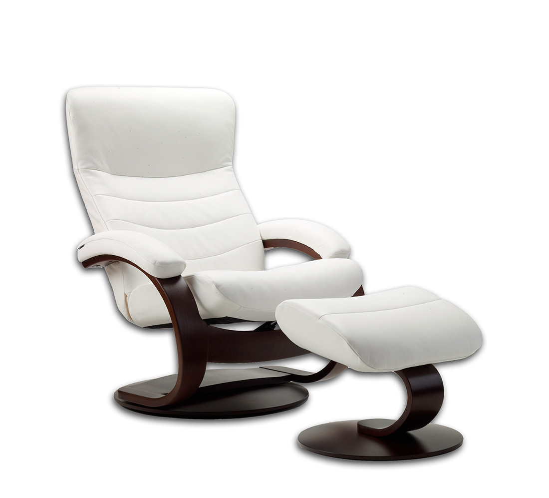 Fjords Trandal Top Grain Leather Small Recliner Fjords Furniture And Recliners