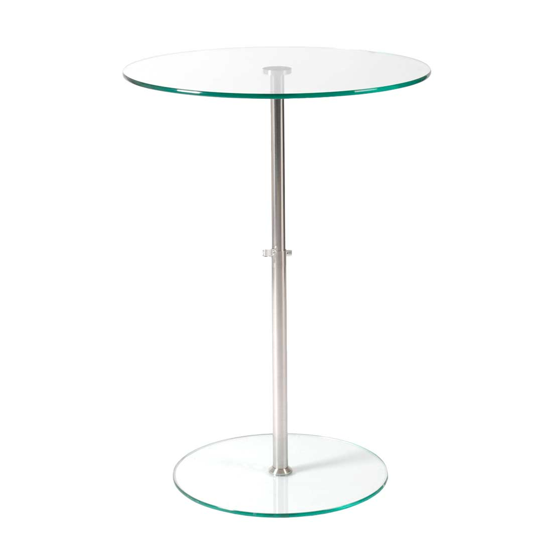 Side Table Adjustable Height Estyle 189 In Clear Tables