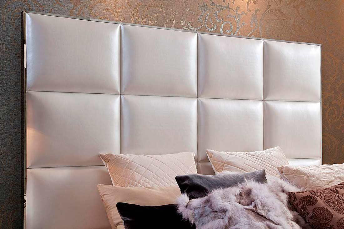 White Modern Leatherette Bed VG004