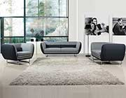 Modern Grey two tone fabric sofa set VG360