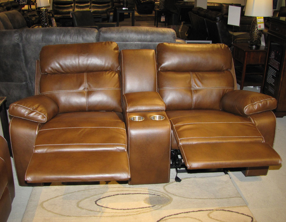 Leather Reclining Sofa And Loveseat Set