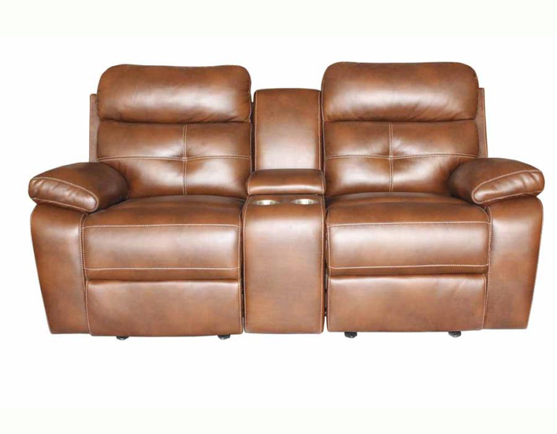 Reclining Leather Sofa And Loveseat Set CO91