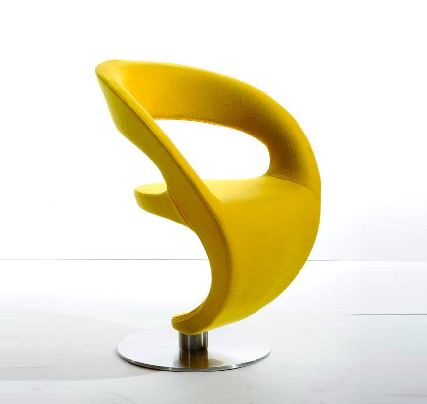 Image gallery modern yellow chair for Modern yellow dining chairs